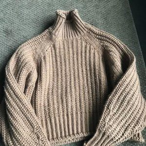 Cable Knit Camel Turtleneck from H and M
